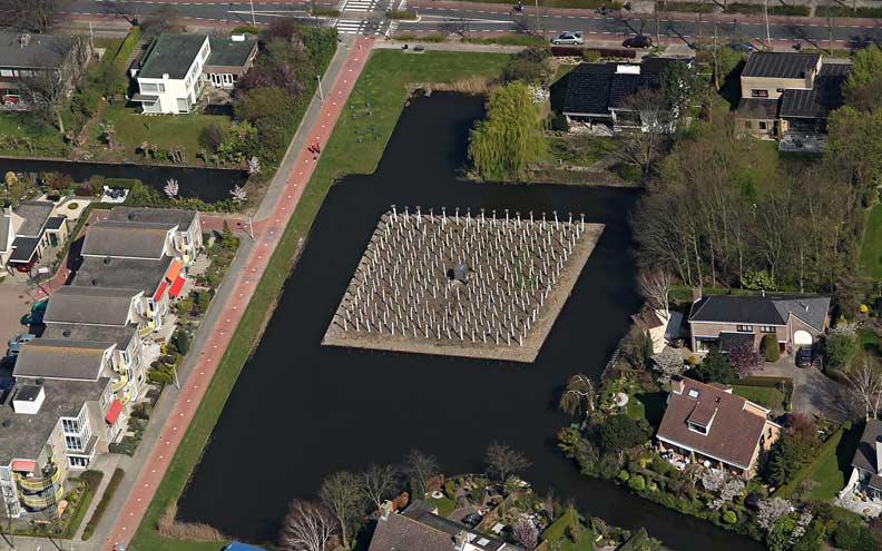 land Art island in Barendrecht, Holland.