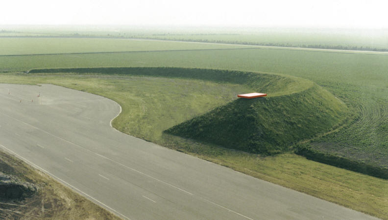 Land Art project in Lelystad, Netherlands.